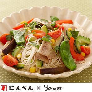 夏野菜和風ビーフン