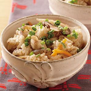 「YOMEちゃんレシピ」 鶏五目炊き込みご飯